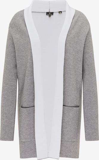 DreiMaster Klassik Cardigan en gris / blanc, Vue avec produit