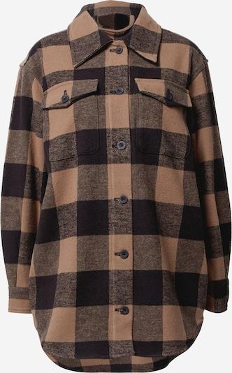 JUST FEMALE Prijelazna jakna 'Choko' u svijetlosmeđa / crna / crna melange, Pregled proizvoda