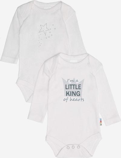 LILIPUT Romper/Bodysuit 'Little King' in Pastel blue / Light grey / White, Item view