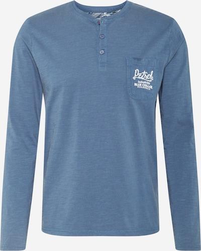 Petrol Industries Shirt in de kleur Duifblauw / Wit, Productweergave