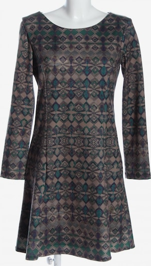 Lavand Langarmkleid in M in braun / grün / schwarz, Produktansicht