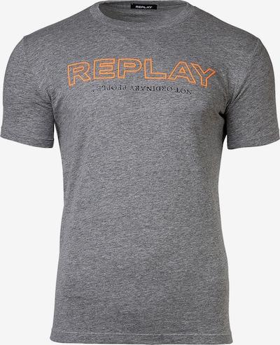 REPLAY Shirt in grau / orange, Produktansicht