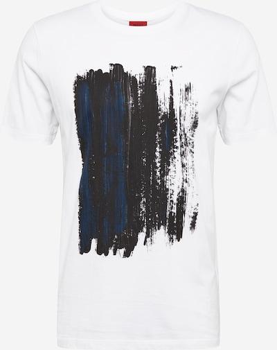 HUGO Majica 'Draint'   modra / črna / bela barva, Prikaz izdelka