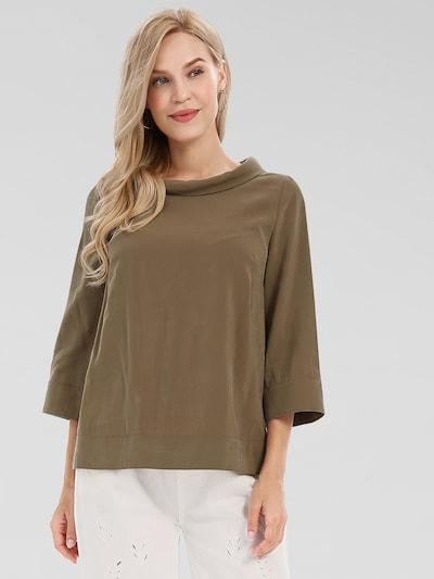 APART Bluse gerade, lockere Form in oliv, Modelansicht