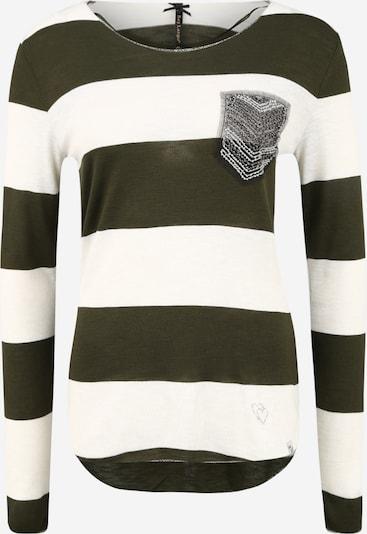Key Largo Shirt 'JANINA' in khaki / offwhite, Produktansicht