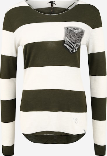 Key Largo Shirt 'JANINA' in Khaki / Off white, Item view