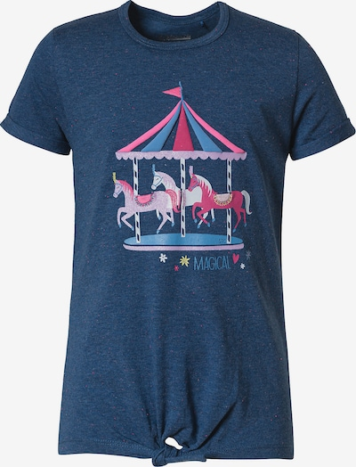 STACCATO T-Shirt in marine / himmelblau / cyclam / hellpink / weiß, Produktansicht