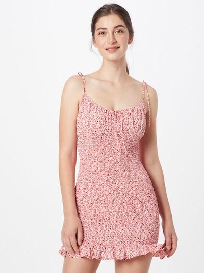 Parallel Lines Kleid in rot / weiß, Modelansicht