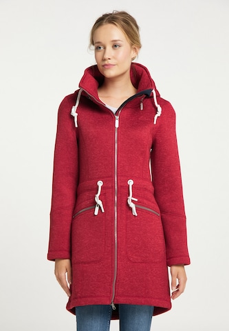 ICEBOUND Knitted Coat in Red