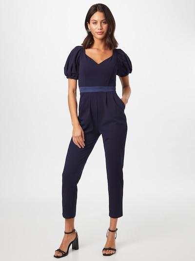 Tuta jumpsuit Skirt & Stiletto di colore navy, Visualizzazione modelli