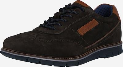bugatti Sporta apavi ar šņorēm 'Simone', krāsa - tumši zils / karameļkrāsas / pelēkbrūns, Preces skats