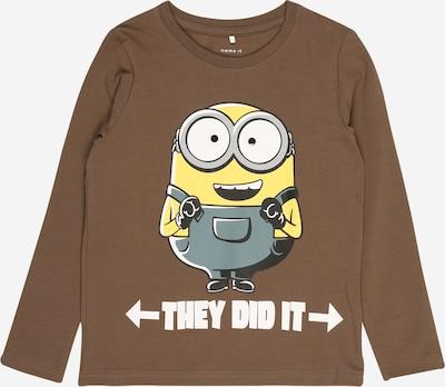 NAME IT T-Shirt 'MINIONS' en bleu-gris / marron / jaune / blanc, Vue avec produit