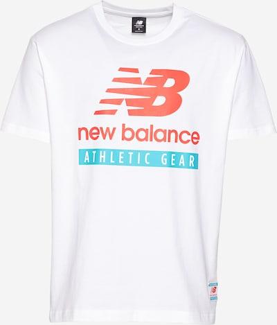 new balance T-Shirt in türkis / melone / weiß, Produktansicht