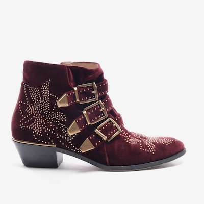 Chloé Dress Boots in 39 in Bordeaux, Item view