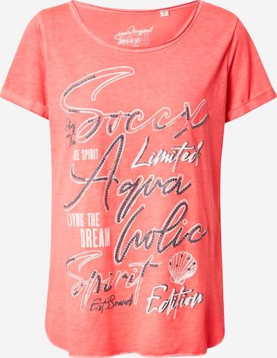 Tricou Soccx pe roz / alb, Vizualizare produs