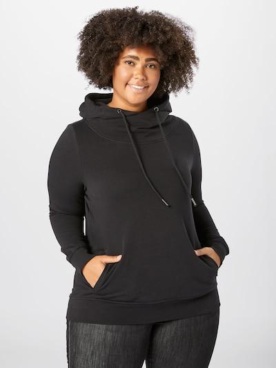 ONLY Carmakoma Sweatshirt 'SKAY LIFE' in schwarz: Frontalansicht