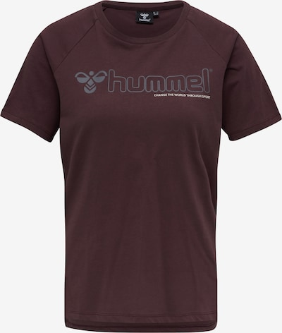 Hummel T-Shirt 'Zenia' in silbergrau / beere, Produktansicht