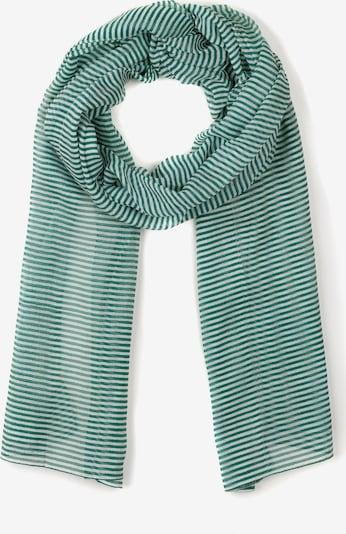 Ulla Popken Sjaal in de kleur Smaragd / Wit, Productweergave