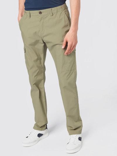 TOM TAILOR Pantalon cargo en vert pastel, Vue avec modèle