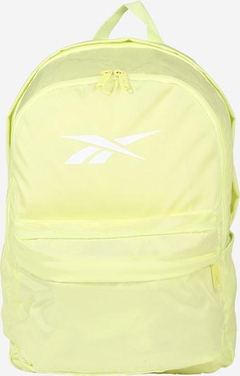 REEBOK Sac à dos de sport en jaune clair / blanc, Vue avec produit