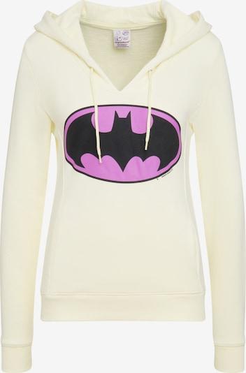 LOGOSHIRT Kapuzensweatshirt 'Batman-Logo' in hellgelb / lila / schwarz, Produktansicht