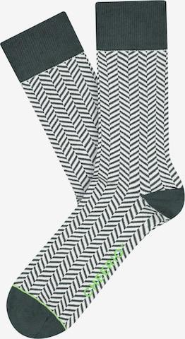 Chaussettes 'HERRINGBONE HOMIE' CHEERIO* en vert