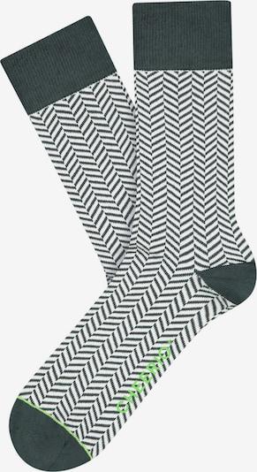 CHEERIO* Sokken 'HERRINGBONE HOMIE' in de kleur Groen, Productweergave