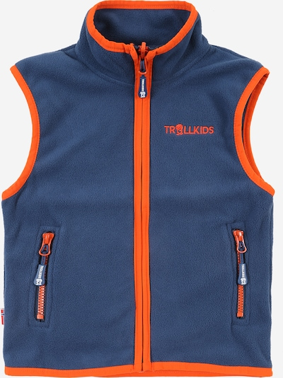 TROLLKIDS Sportbodywarmer 'Arendal' in de kleur Donkerblauw / Sinaasappel, Productweergave