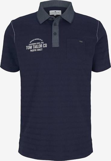 TOM TAILOR Shirt in de kleur Donkerblauw / Donkergrijs / Wit, Productweergave