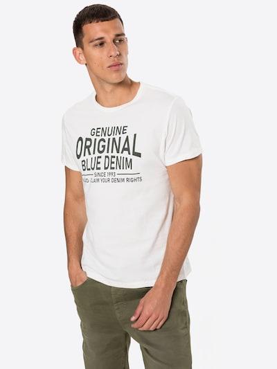 BLEND T-Shirt in tanne / weiß: Frontalansicht