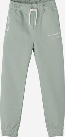 NAME IT Broek in de kleur Groen / Zwart / Wit, Productweergave