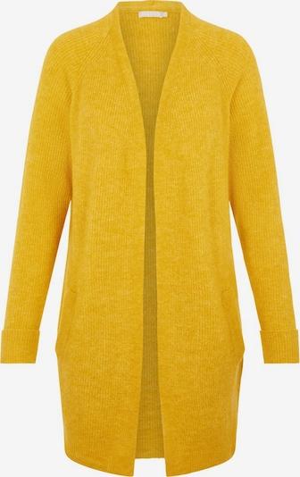 PIECES Strickjacke in gelb, Produktansicht