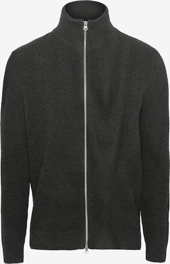 KnowledgeCotton Apparel Jacke ' Valley Zip Cardigan Knit ' in dunkelgrau, Produktansicht