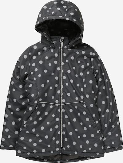 NAME IT Veste d'hiver 'Maxi' en noir chiné / blanc, Vue avec produit