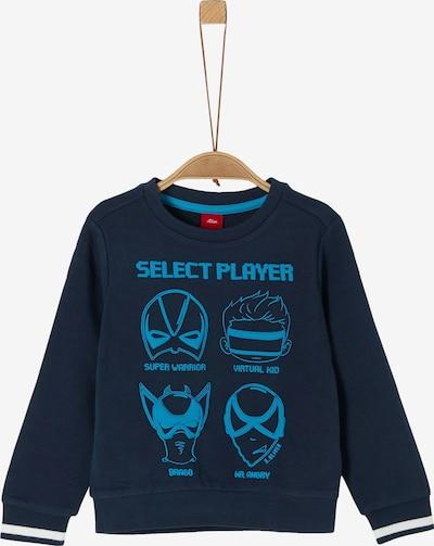 s.Oliver Sweatshirt in blau / dunkelblau, Produktansicht
