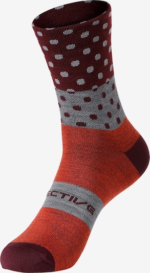 PROTECTIVE Athletic Socks 'P-Ride Day' in Grey / Coral / Burgundy, Item view