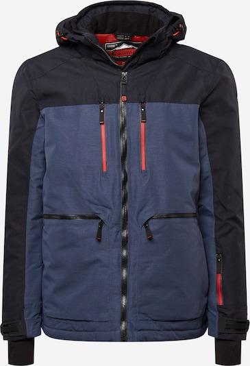 KILLTEC Sportjacke in taubenblau / schwarz, Produktansicht
