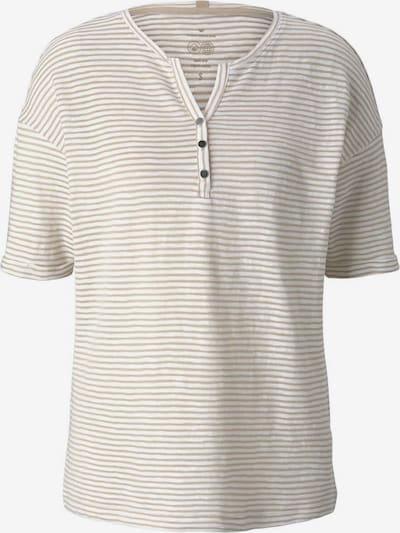 TOM TAILOR Shirt in de kleur Beige / Grijs, Productweergave