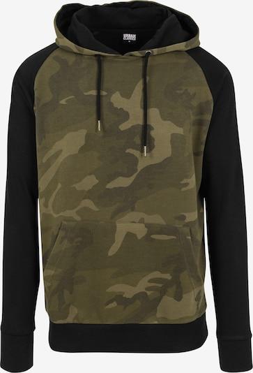 Urban Classics Sportisks džemperis haki / olīvzaļš / tumši zaļš / melns, Preces skats