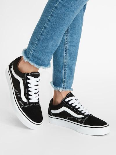 Sneaker low 'OLD SKOOL' VANS pe negru / alb: Privire frontală