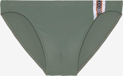 HOM Badehose 'Alize' in khaki / orange / schwarz / weiß, Produktansicht
