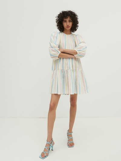 EDITED Šaty 'Joanna' - modrá / svetložltá / ružová / prírodná biela, Model/-ka