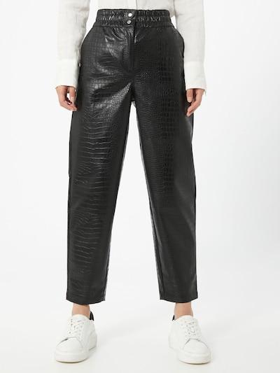 Soft Rebels Pantalon 'Croco' en noir, Vue avec modèle