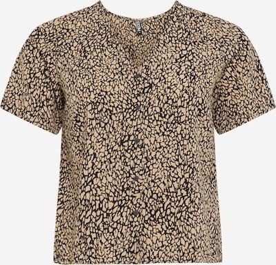 PIECES Curve Shirt 'GILBERTA' in de kleur Beige / Zwart, Productweergave