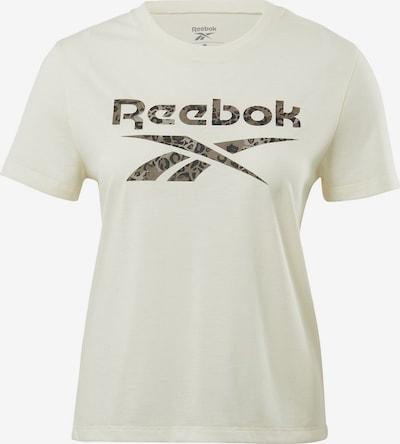 REEBOK Tehnička sportska majica u siva / crna / bijela, Pregled proizvoda