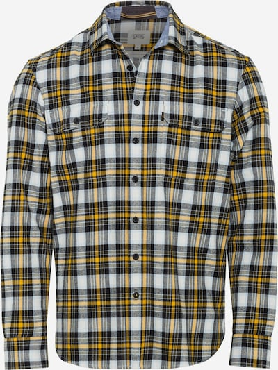 CAMEL ACTIVE Button Up Shirt in Yellow / Anthracite / Wool white, Item view