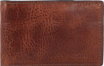 FOSSIL Geldbörse 'Andrew' in Braun