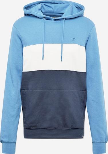 BLEND Kapuzenpullover in blau / taubenblau / weiß, Produktansicht