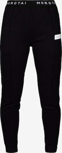 MOROTAI Jogginghose ' Cropped Pleat Pants ' in schwarz, Produktansicht