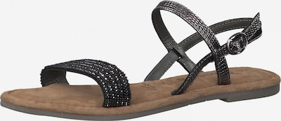 TAMARIS Sandale in schwarz / silber, Produktansicht